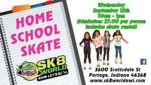 Home School Skate flyer