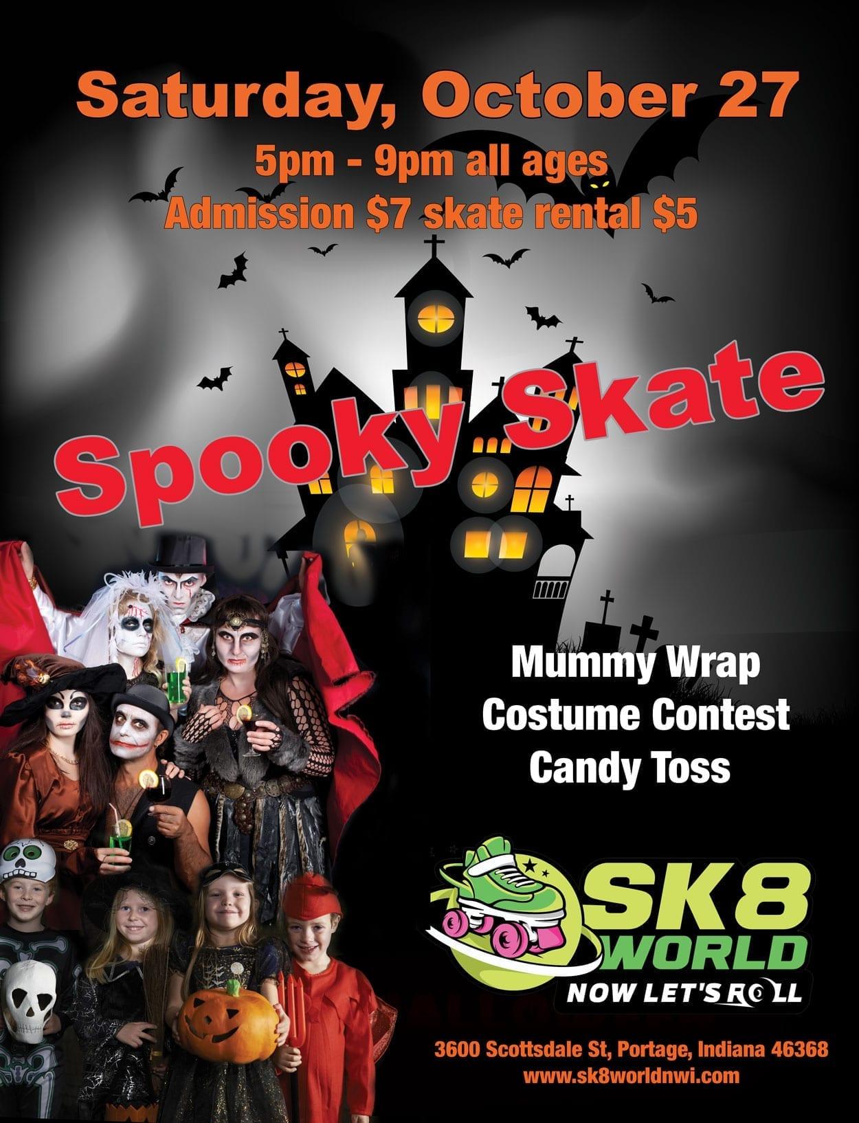 Spooky Skate flyer