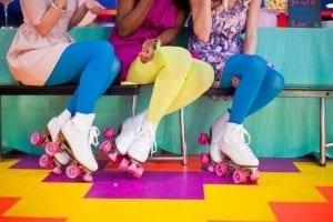 White quad skates