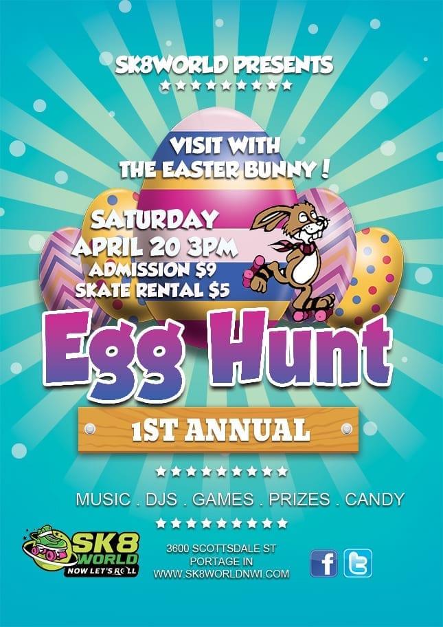 Easter Egg Hunt at Sk8world